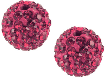 40% OFF Shamballa Deep Red Crystal 8mm