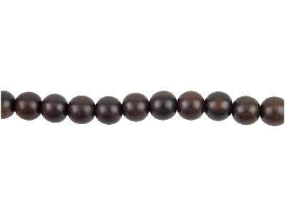 Tiger Ebony Round Wood Beads