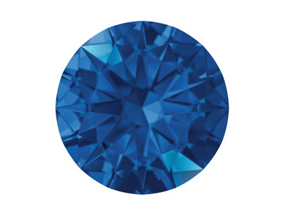 Swarovski Gemstones Blue Sapphire   Round Brilliant Cut 1.25mm Top Blue