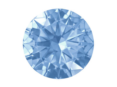 Swarovski Gemstones Blue Sapphire  Round Brilliant Cut 2mm Very Light Blue