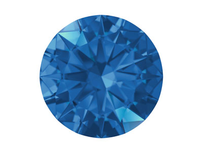 Swarovski Gemstones Blue Sapphire   Round Brilliant Cut 2mm Bright Blue