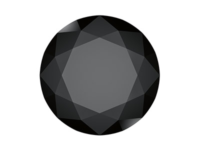 Swarovski Gemstones Genuine Spinel Round Brilliant Cut 2.5mm Black
