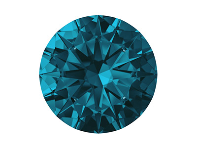 Swarovski Zirconia Ceramic Round   Pure Brilliance Cut 1.5mm London   Blue Dark