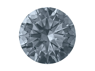 Swarovski Zirconia Ceramic Round   Pure Brilliance Cut 1.5mm Ocean    Grey Dark