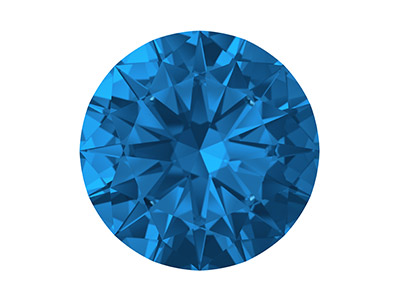 Swarovski Zirconia Ceramic Round   Pure Brilliance Cut 3mm Sapphire   Blue Dark