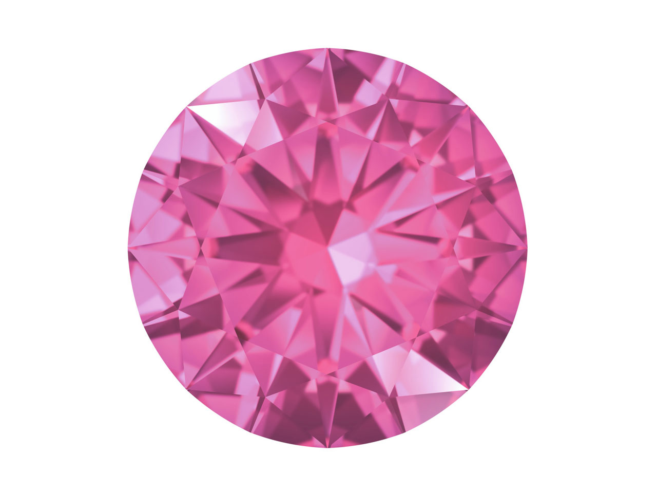 Swarovski Gemstones Pink Sapphire  Round Brilliant Cut 0.8mm Pastel   Red