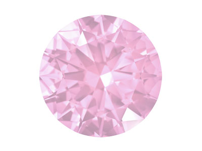 Swarovski Gemstones Pink Sapphire  Round Brilliant Cut 1.0mm Very     Light Pink