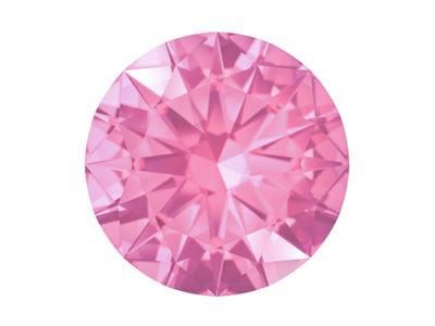 Swarovski Gemstones Pink Sapphire  Round Brilliant Cut 1mm Pastel     Light