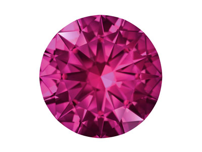 Swarovski Gemstones Pink Sapphire   Round Brilliant Cut 1mm Pink Medium