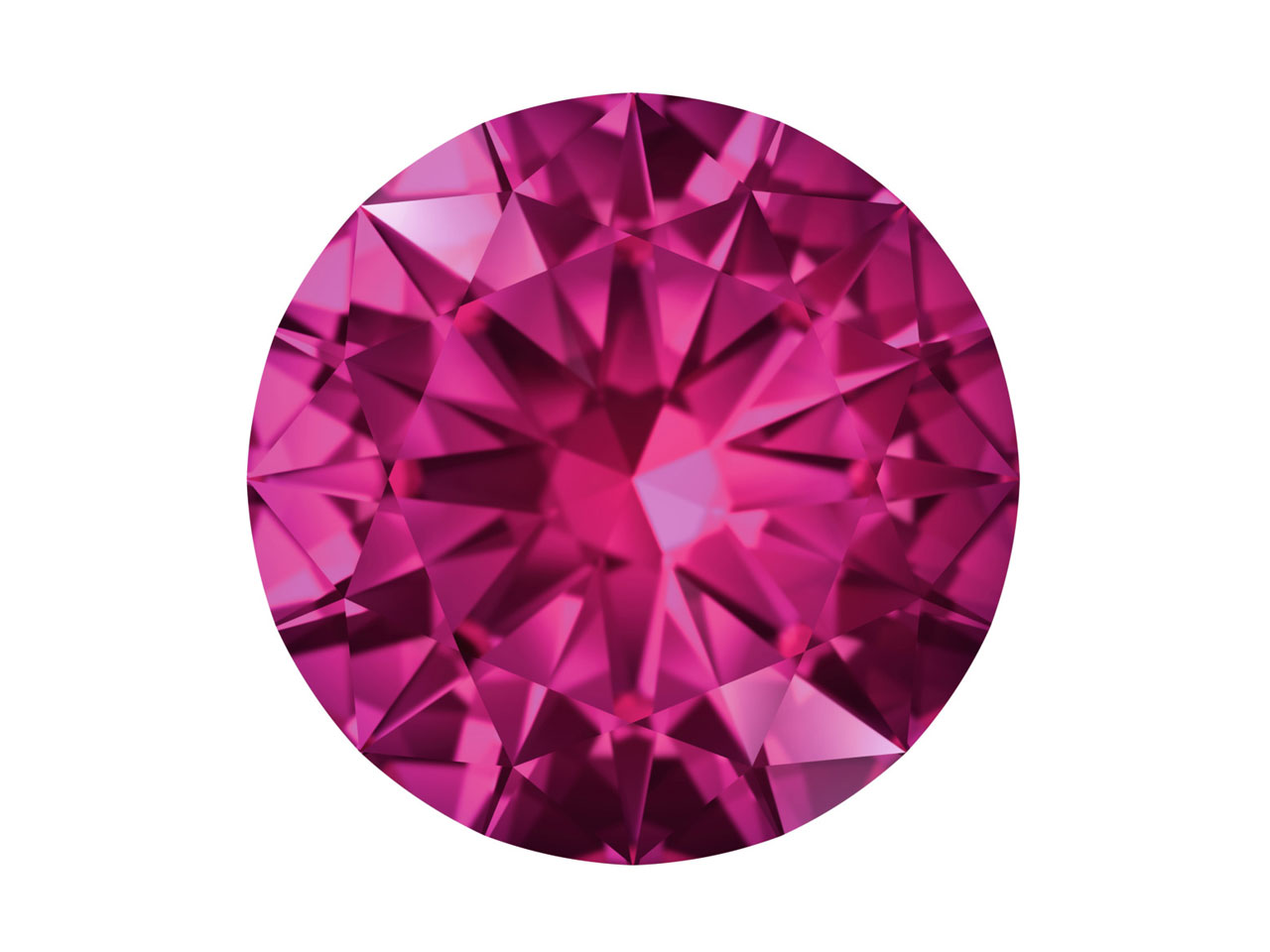 Swarovski Gemstones Pink Sapphire  Round Brilliant Cut 1.0mm Pink     Medium