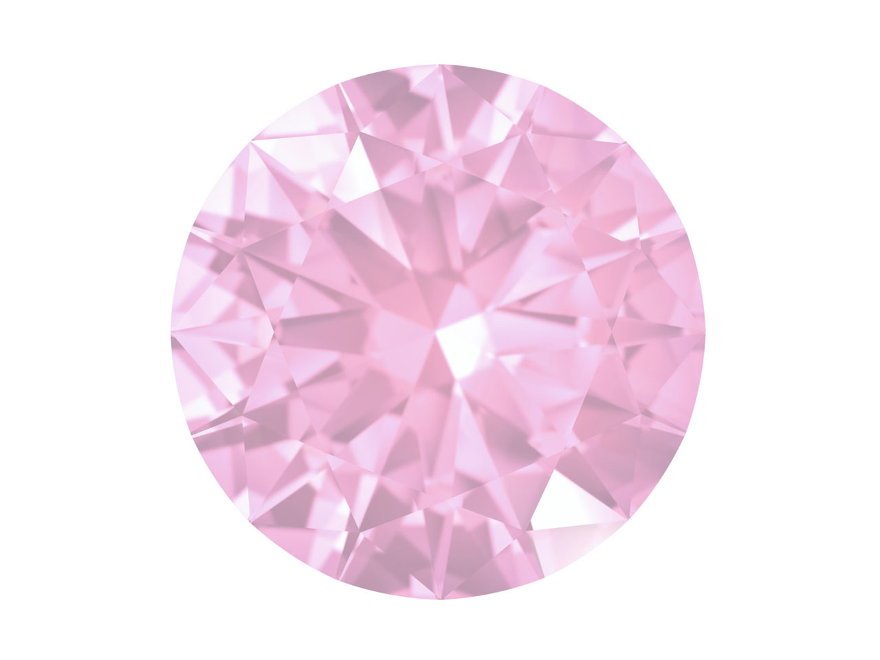 Swarovski Gemstones Pink Sapphire  Round Brilliant Cut 1.25mm Very    Light Pink