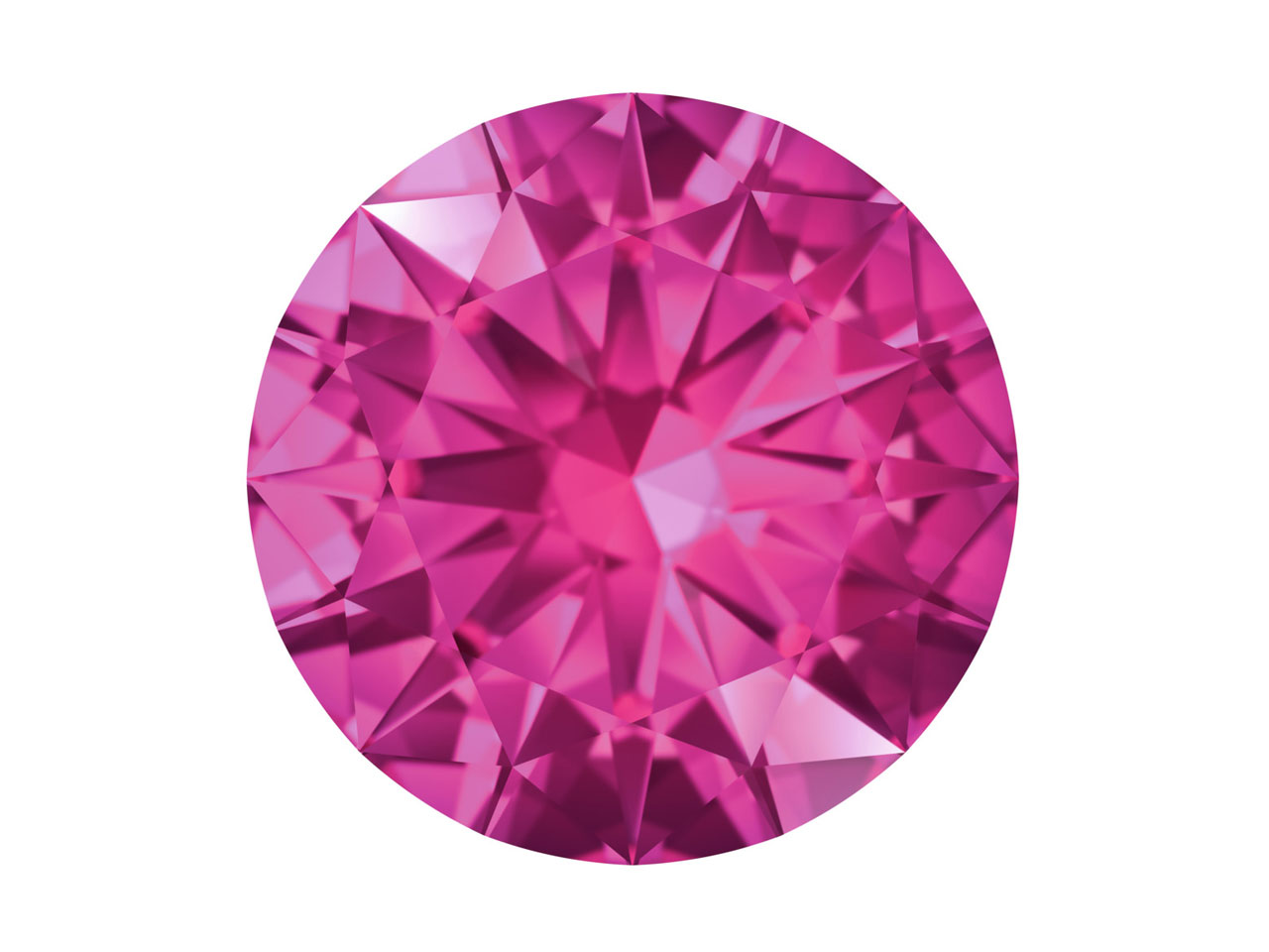 Swarovski Gemstones Pink Sapphire  Round Brilliant Cut 1.75mm Pink    Light