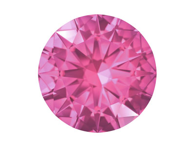 Swarovski Gemstones Pink Sapphire  Round Brilliant Cut 2mm Pastel Red