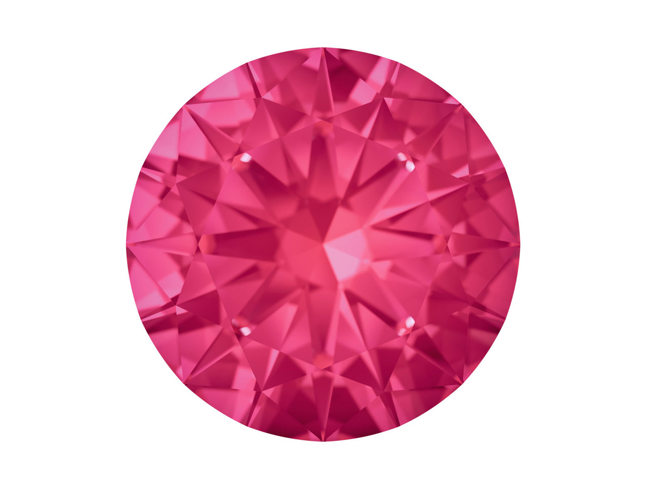 Swarovski Gemstones Ruby Round     Brilliant Cut 1.5mm Bright Red
