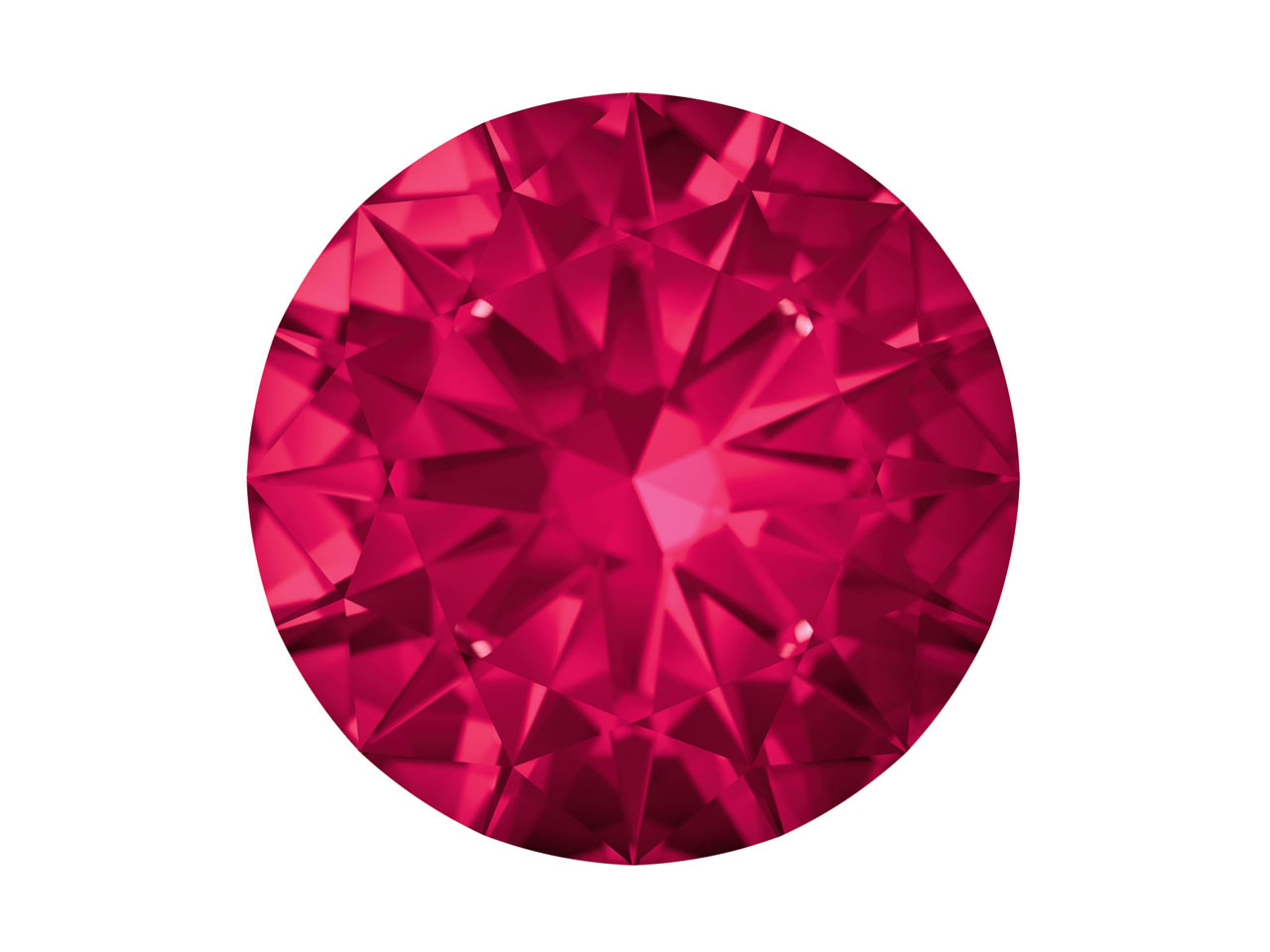 Swarovski Gemstones Ruby Round     Brilliant Cut 1.25mm Top Ruby