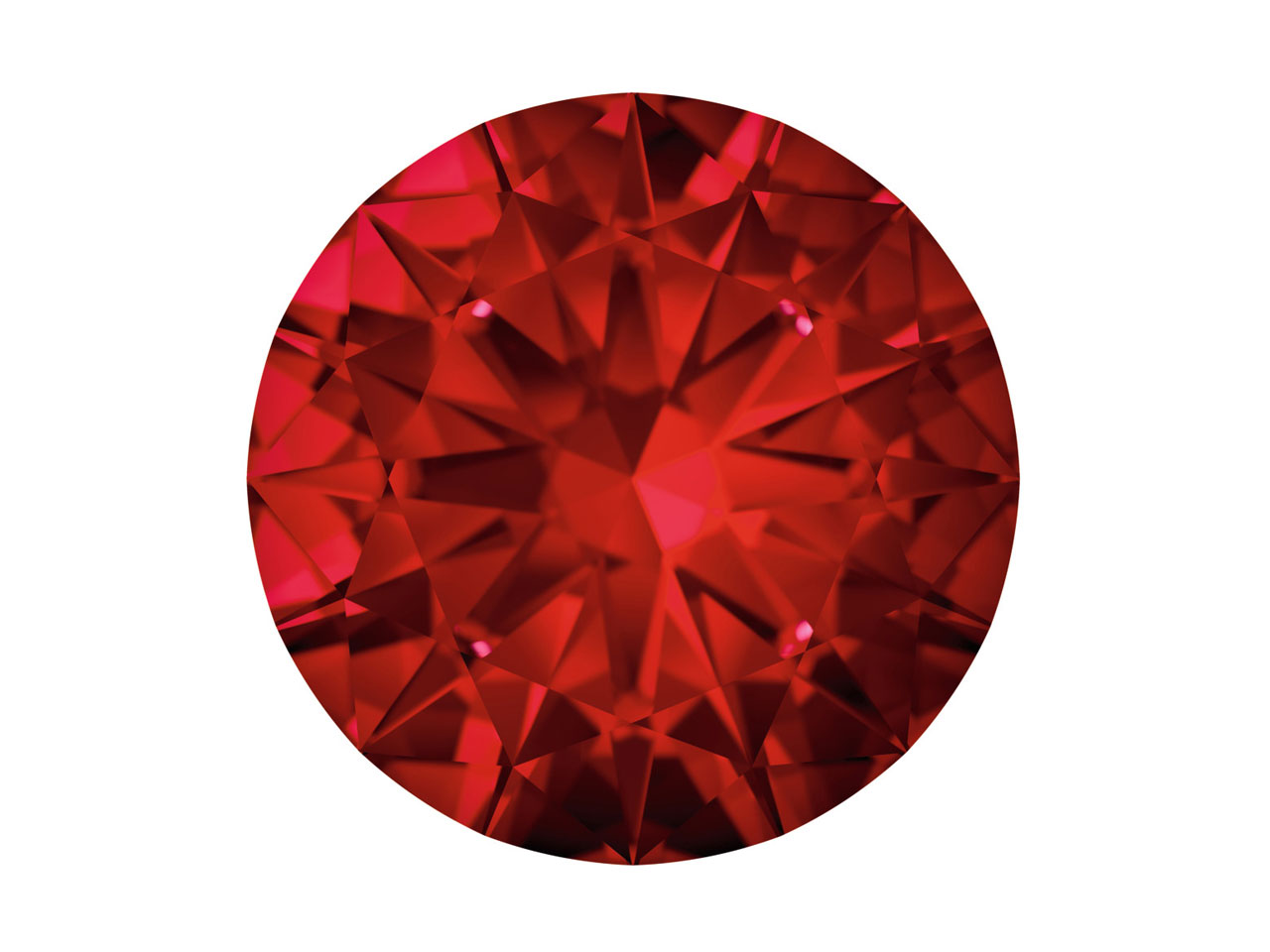 Swarovski Gemstones Ruby Round     Brilliant Cut 1.25mm Top Red