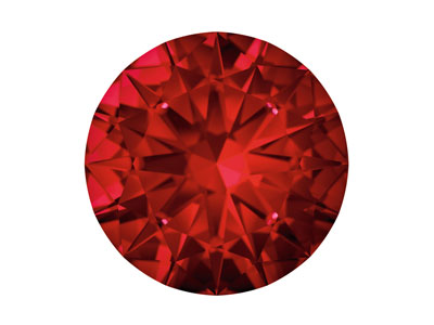 Swarovski Gemstones Ruby Round     Brilliant Cut 1.75mm Top Red