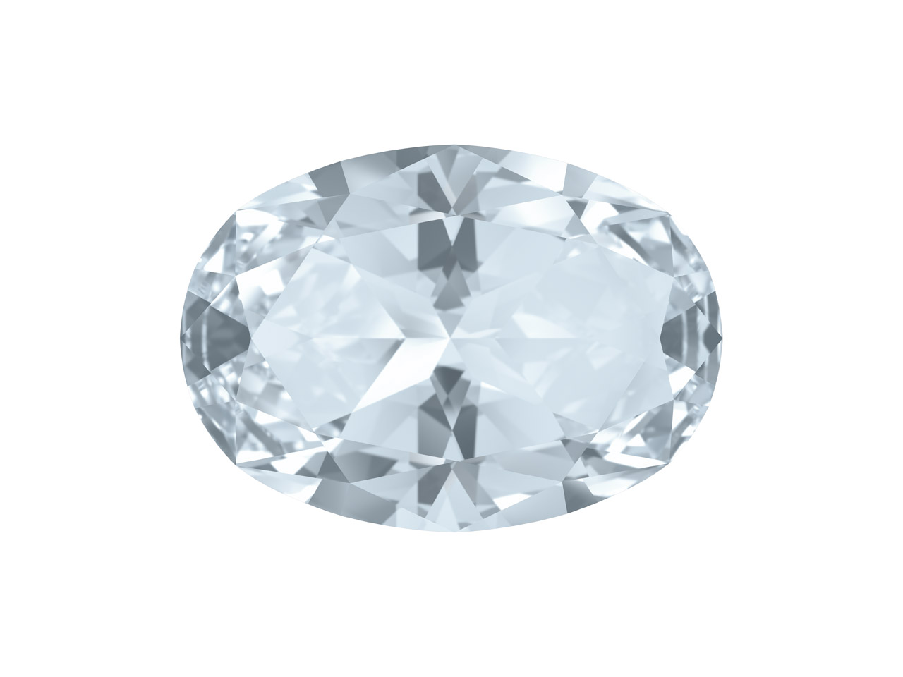 Swarovski Gemstones Genuine Topaz  Oval Star Cut 6x4mm White