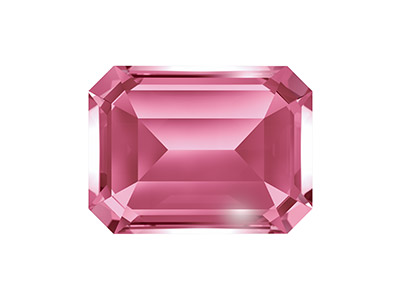 Swarovski Gemstones Genuine Topaz  Octagonal Cut 8x6mm Pink