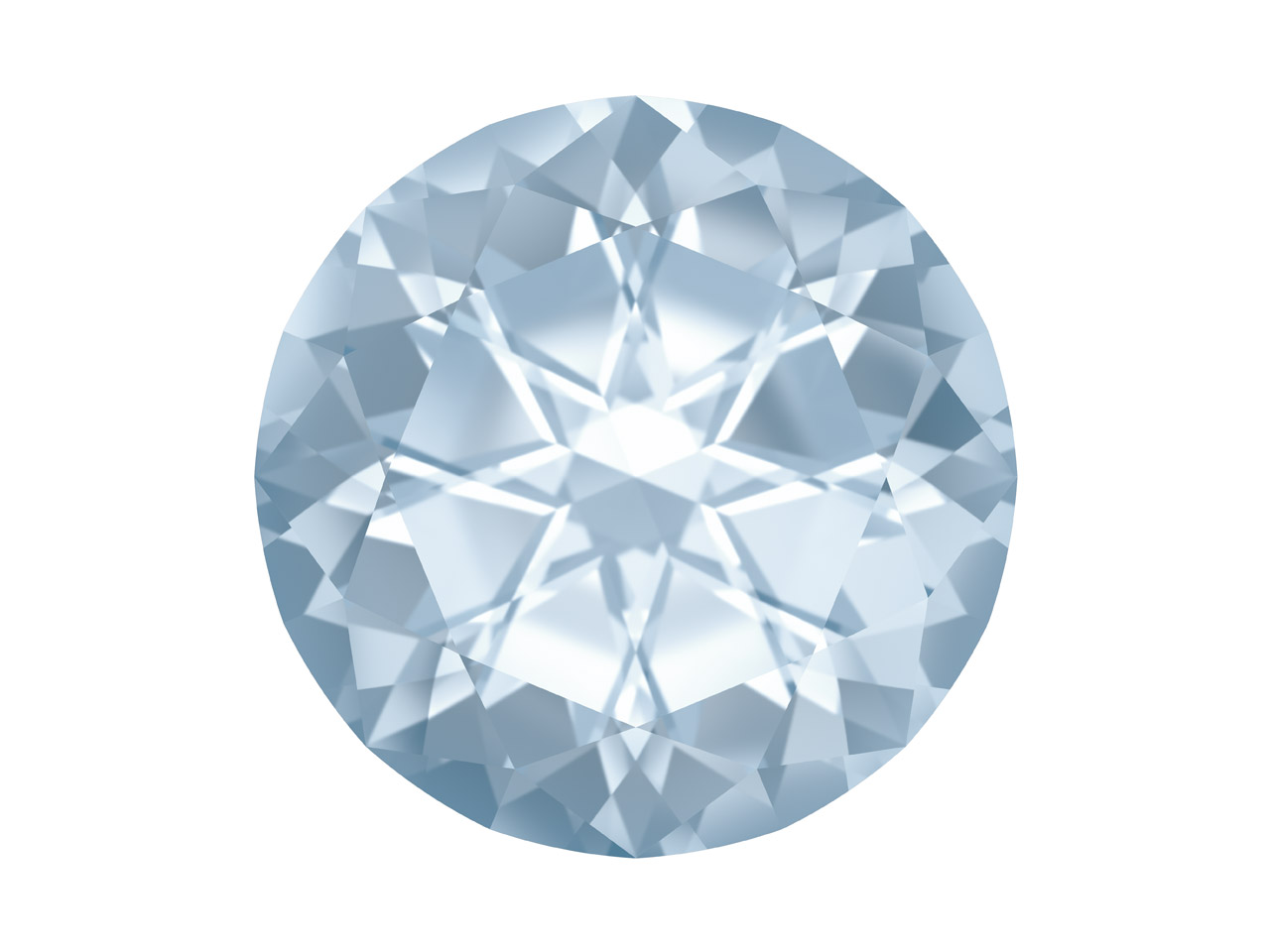 Swarovski Gemstones Genuine Topaz  Round Natural Brilliance Cut 10mm  White