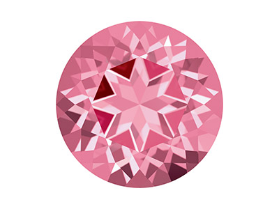 Swarovski Gemstones Genuine Topaz  Round Natural Brilliance Cut 5mm   Pink