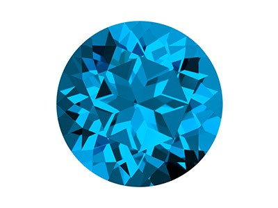 Swarovski Gemstones Genuine Topaz  Round Natural Brilliance Cut 6mm   Kashmir