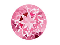 Swarovski Gemstones Genuine Topaz  Round Natural Brilliance Cut 6mm   Baby Pink