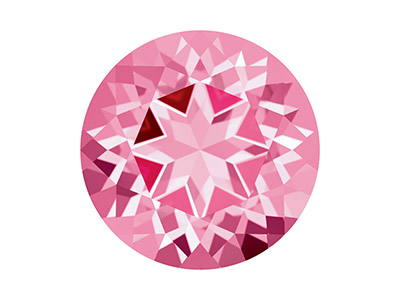 Swarovski Gemstones Genuine Topaz  Round Natural Brilliance Cut 6mm   Pink