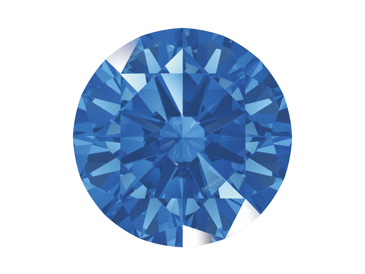 Swarovski Zirconia Round           Pure Brilliance Cut 2mm Fancy Blue