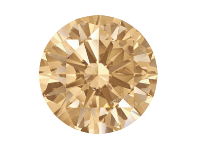 Swarovski Zirconia Round           Pure Brilliance Cut 2.75mm Fancy   Champagne
