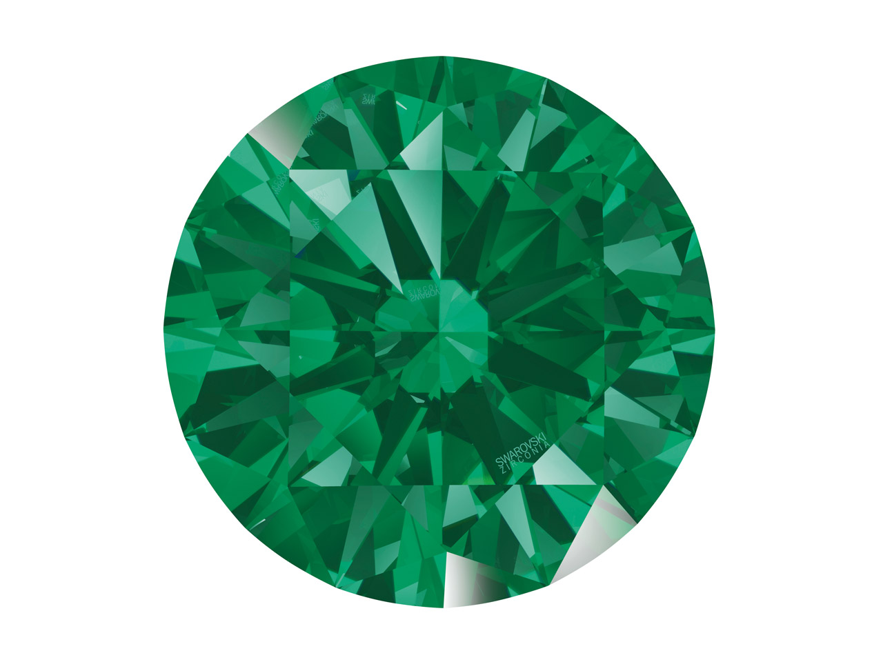 Swarovski Zirconia Round           Pure Brilliance Cut 3.5mm Green