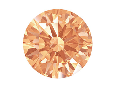 Swarovski Zirconia Round           Pure Brilliance Cut 3.5mm Amber