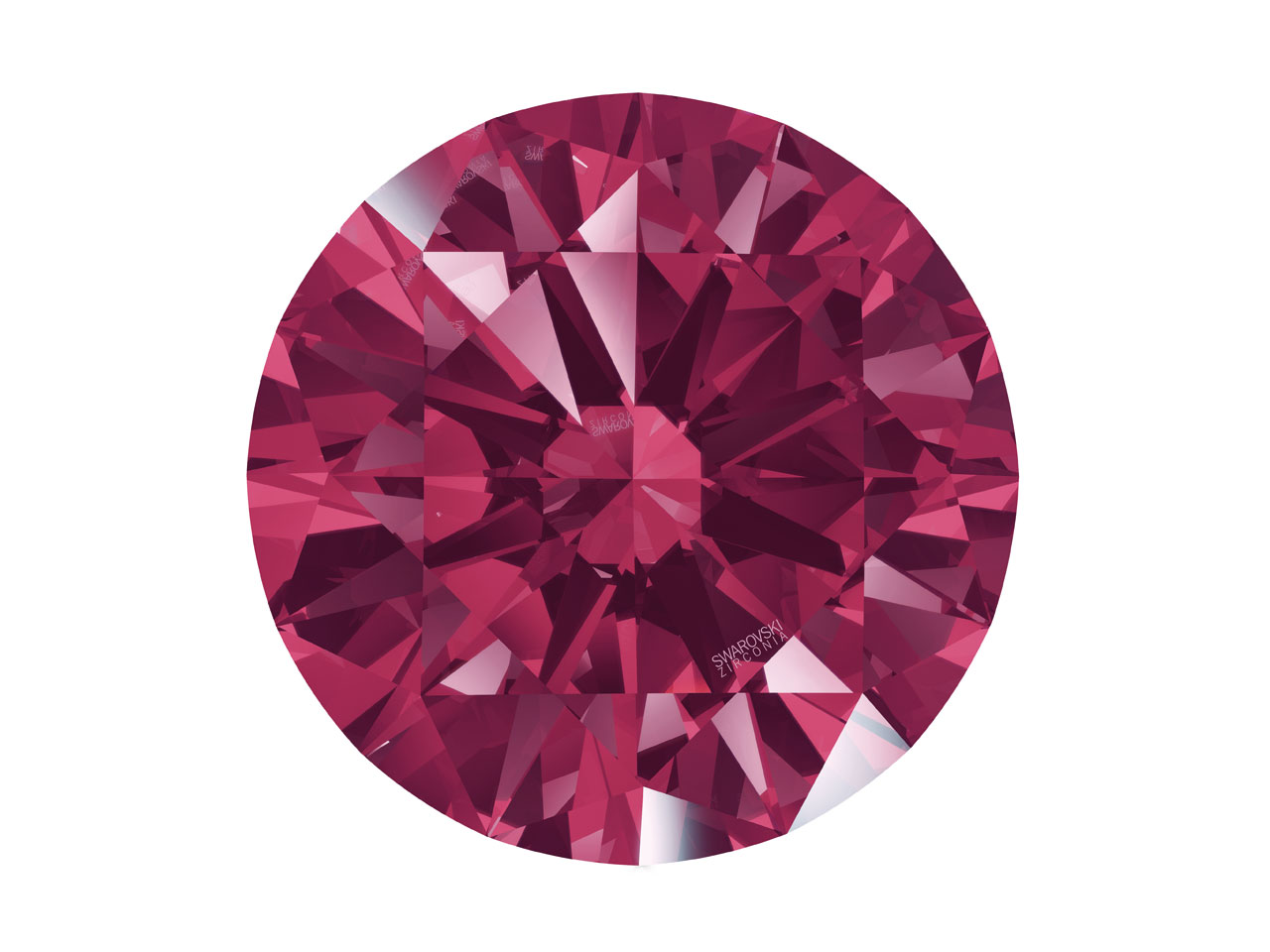 Swarovski Zirconia Round           Pure Brilliance Cut 4.0mm Dark Red