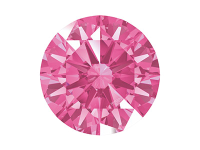 Swarovski Zirconia Round           Pure Brilliance Cut 5mm Pink