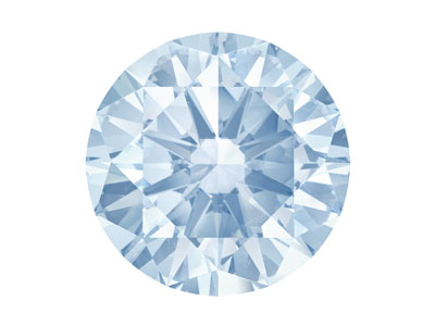 Swarovski Zirconia Round           Pure Brilliance Cut 5mm Greyish    Blue