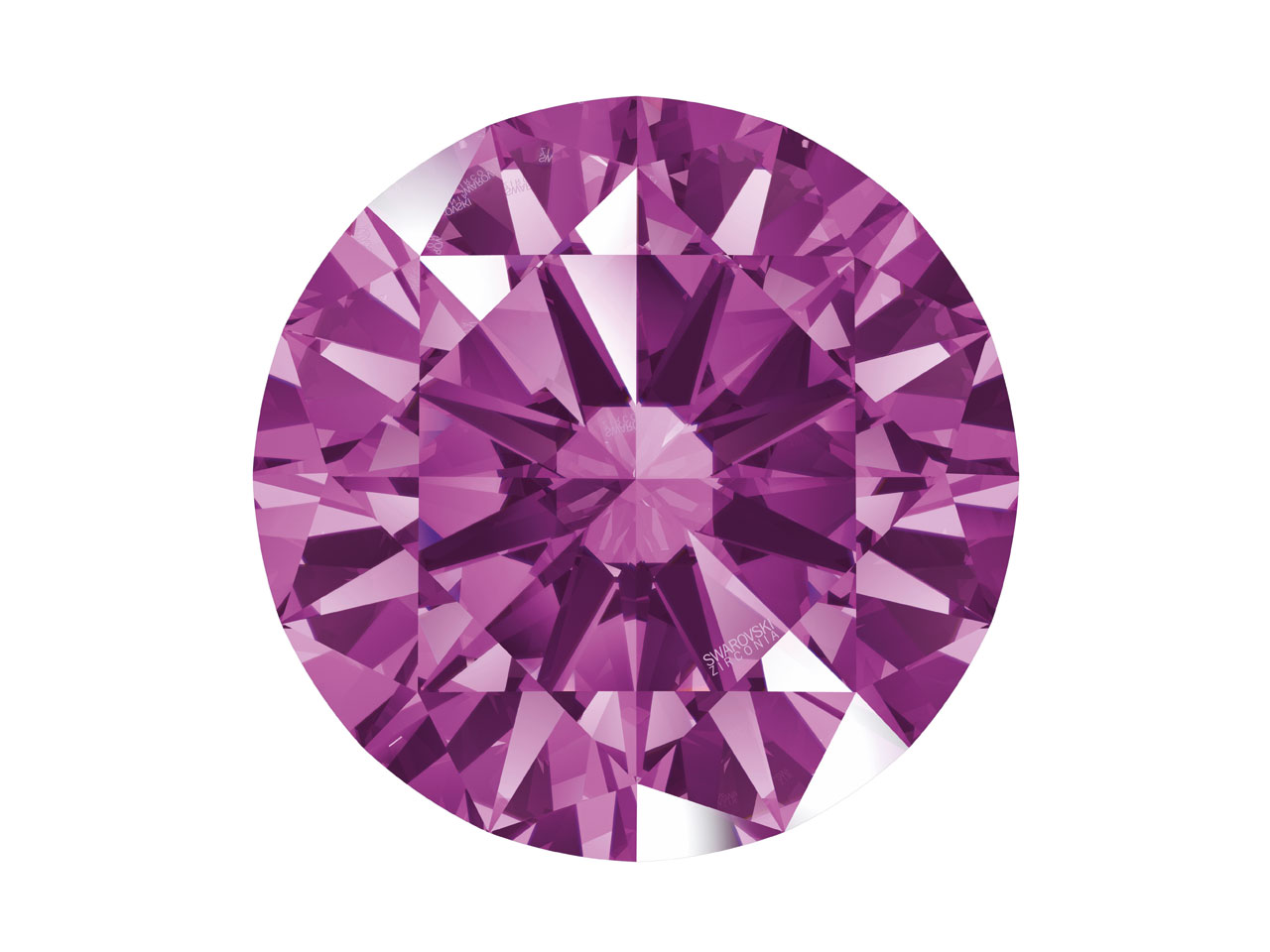 Swarovski Zirconia Round           Pure Brilliance Cut 5.0mm Fancy    Purple