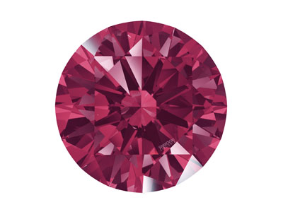 Swarovski Zirconia Round           Pure Brilliance Cut 5mm Dark Red