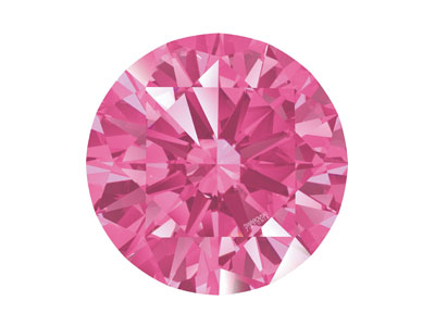 Swarovski Zirconia Round           Pure Brilliance Cut 6.5mm Pink