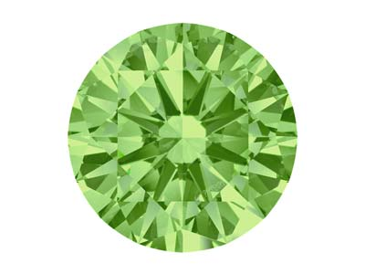 Swarovski Zirconia Round           Pure Brilliance Cut 6.5mm Spring   Green