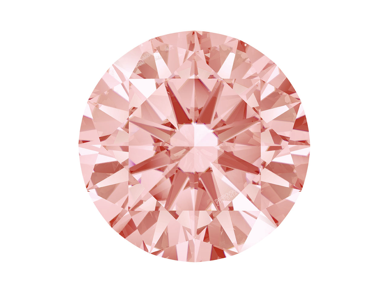 Swarovski Zirconia Round           Pure Brilliance Cut 7.0mm Fancy    Morganite