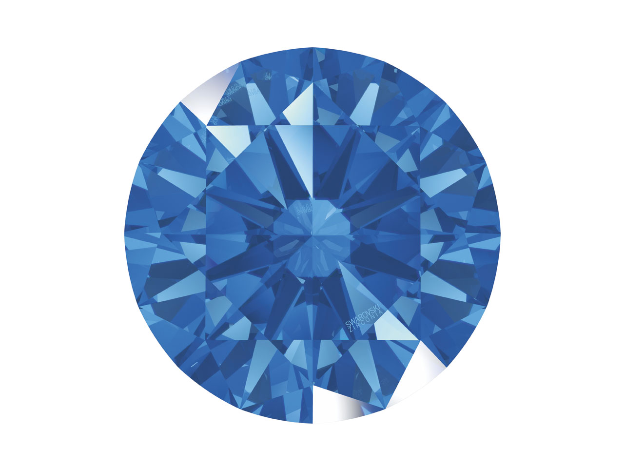 Swarovski Zirconia Round           Pure Brilliance Cut 8.0mm Fancy    Blue