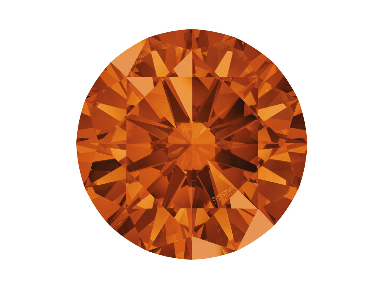 Swarovski Zirconia Round           Pure Brilliance Cut 8mm Caramel