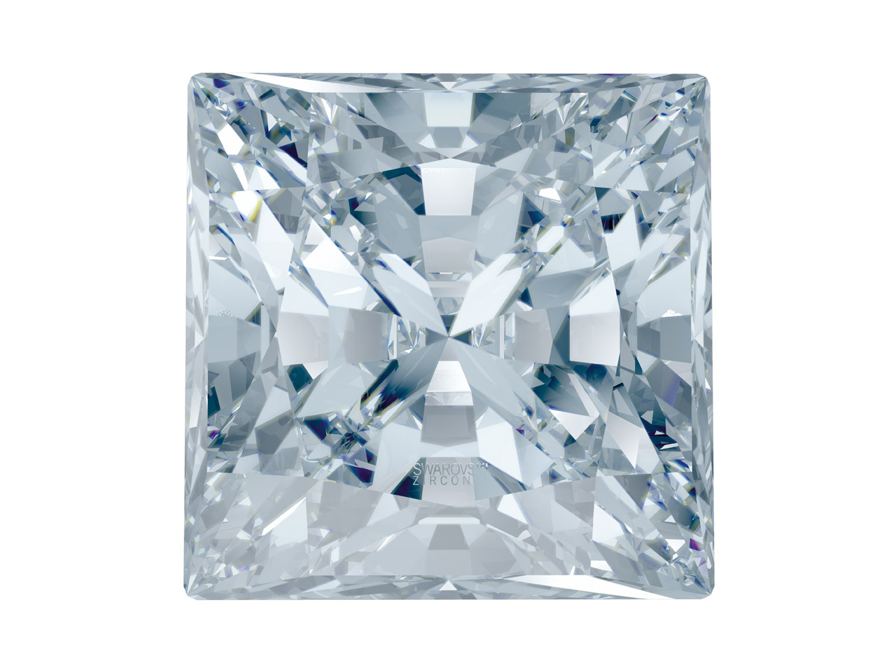 Swarovski Zirconia Square Princess Pure Brilliance Cut 4x4mm White