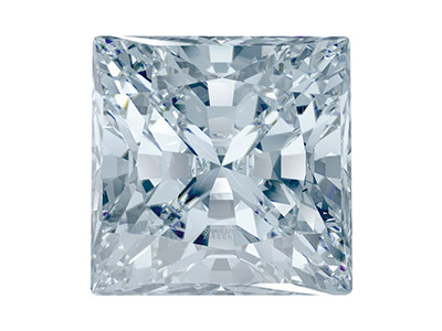 Swarovski Zirconia Square Princess Pure Brilliance Cut 5x5mm White