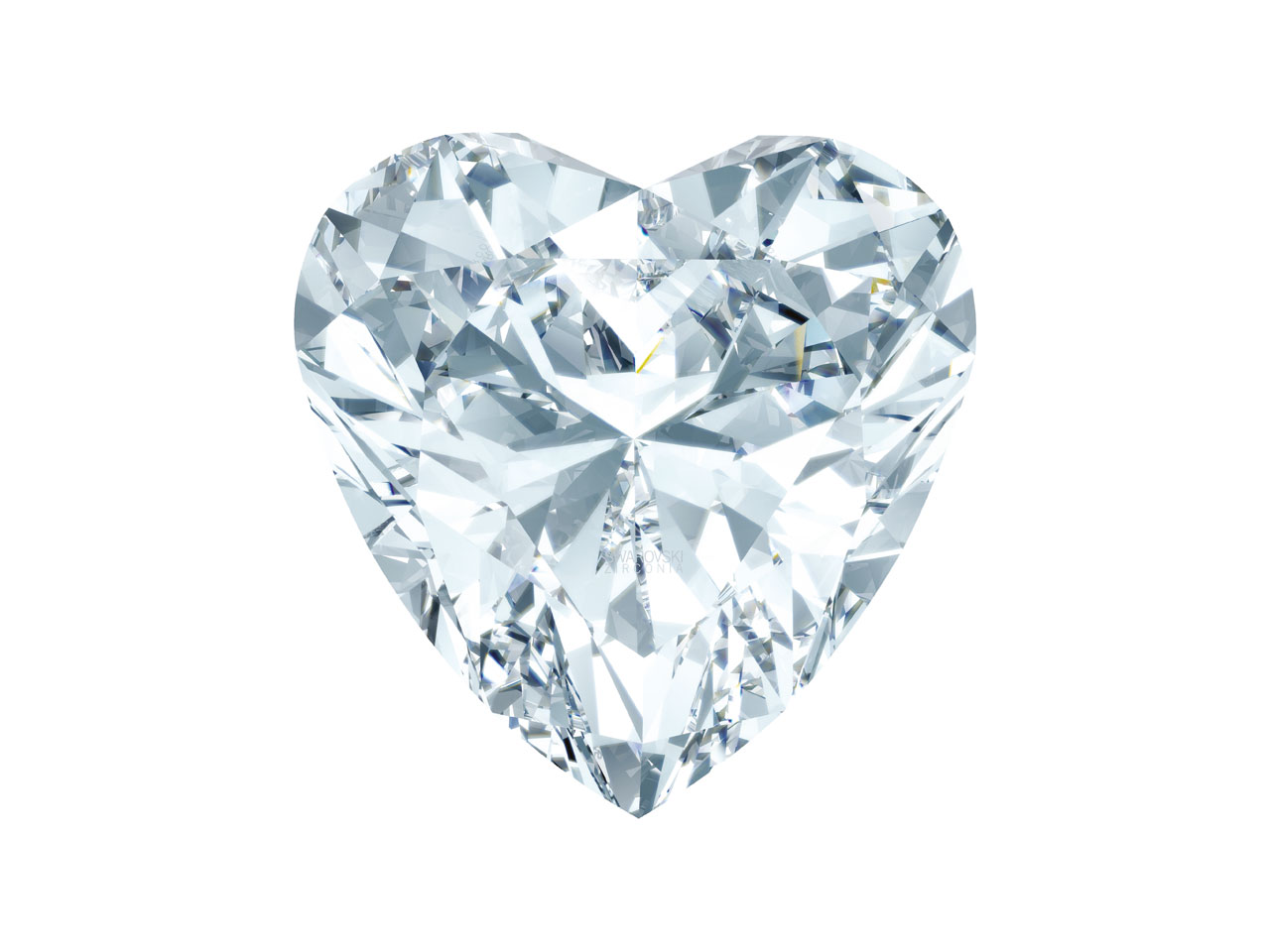 Swarovski Zirconia Heart Classic   Cut 3x3mm White