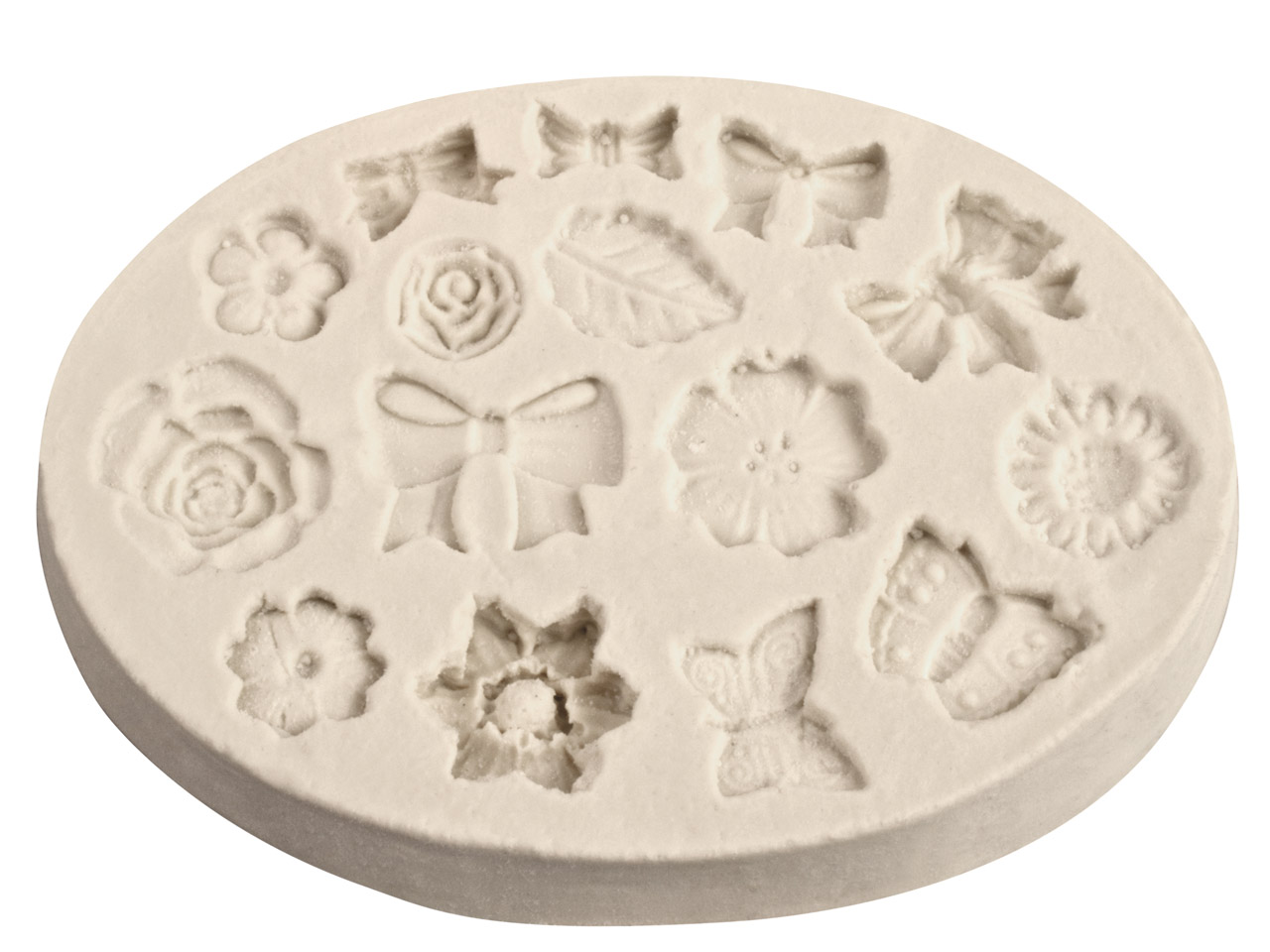 Flexible Clay Mould Bows And       Flowers