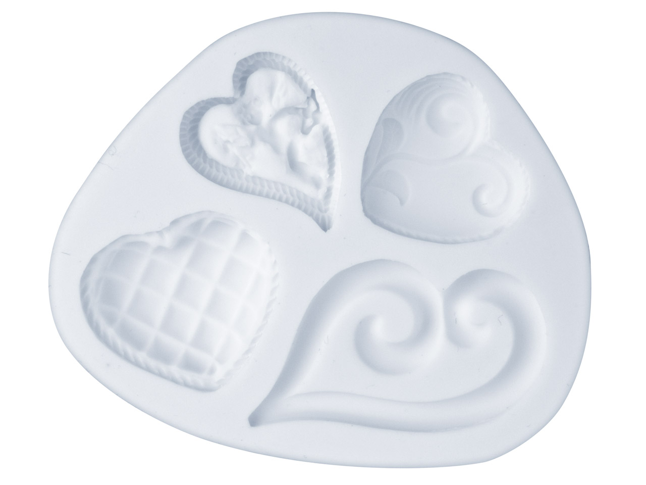 Flexible Mould, Fancy Hearts Design