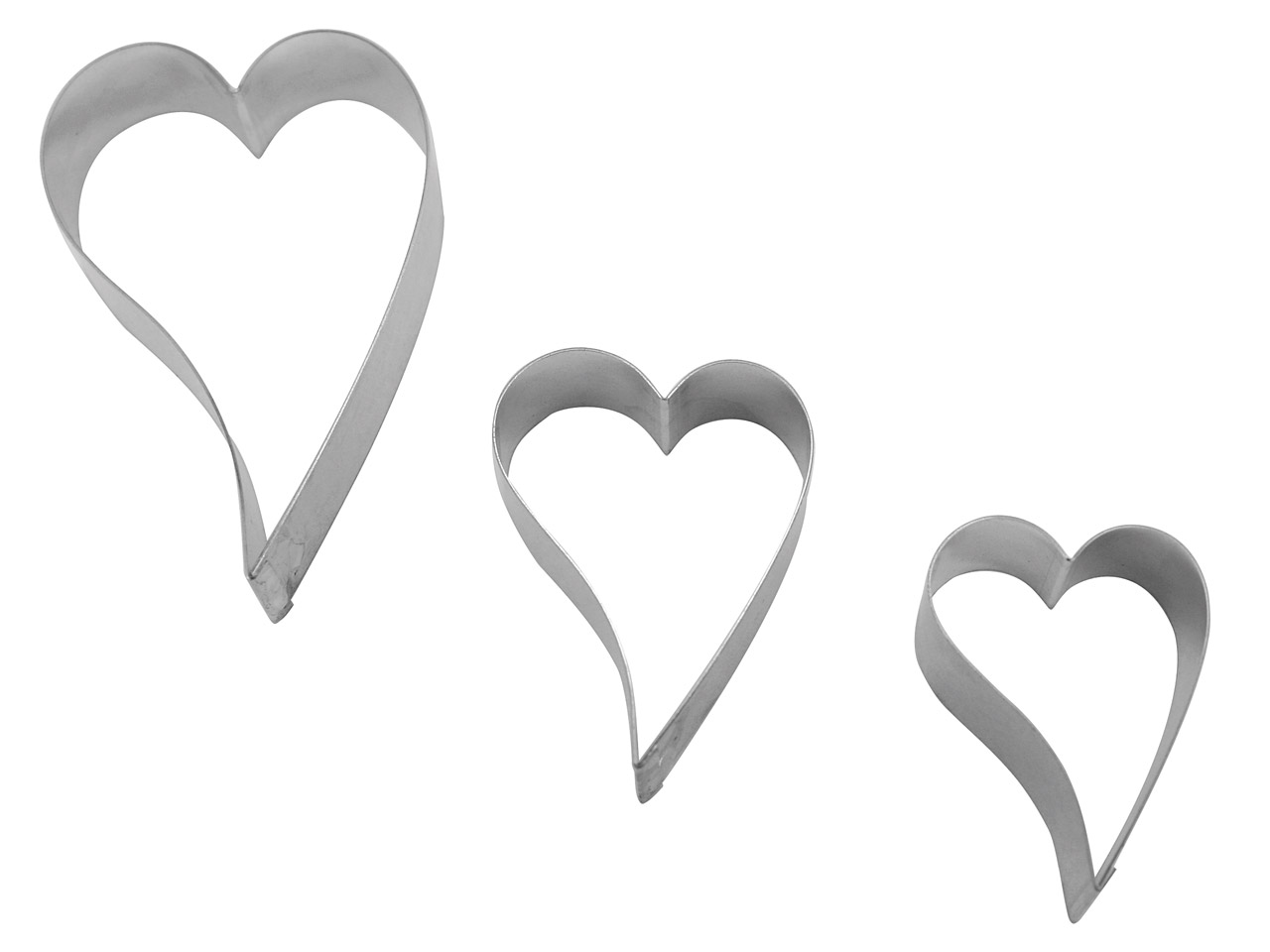 Cutter Curved Heart Pack of 3