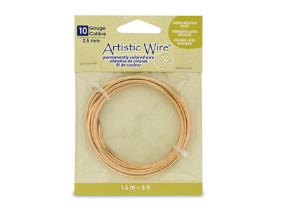 Beadalon Artistic Wire 10 Gauge    Tarnish Resistant Brass 1.5m