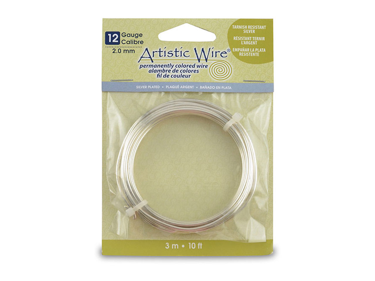 Beadalon Artistic Wire 12 Gauge    Silver Plated 3.1m